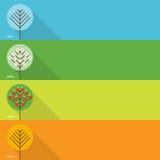 Quatre drapeaux de saisons Photo libre de droits