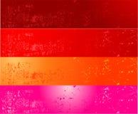 Quatre drapeaux grunges Photographie stock