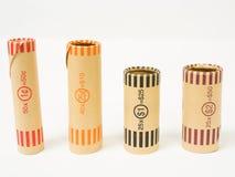 Quatre emballages de pièce de monnaie Photo libre de droits