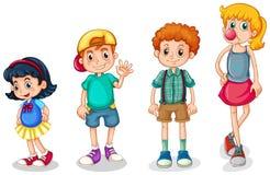 Quatre enfants Photographie stock libre de droits
