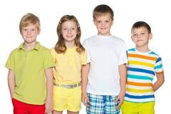 Quatre enfants Photographie stock