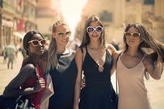 Quatre femmes Ontario il rue photographie stock