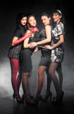 Quatre femmes sur une réception Photos libres de droits