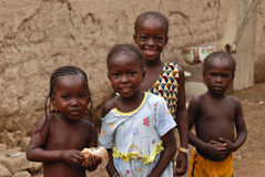 Quatre filles africaines photo libre de droits