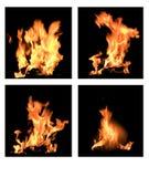 Quatre flammes Images libres de droits