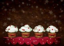Quatre gâteaux Images stock