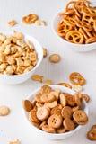 Quatre genres de biscuits dans un vase Image libre de droits