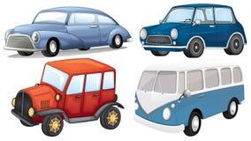 Quatre genres différents de transport illustration de vecteur