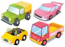 Quatre genres différents de voitures illustration de vecteur