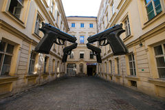 Quatre grandes armes à feu Images libres de droits