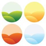 Quatre graphismes de saisons Image stock