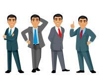 Quatre hommes d'affaires sur le fond blanc Image stock