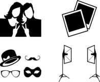 Quatre icônes pour le studio de photo photographie stock libre de droits