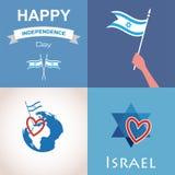 Quatre icônes de l'Israël Photographie stock libre de droits