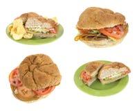 Sandwich à dinde encombrant de tofu de petit pain photo stock