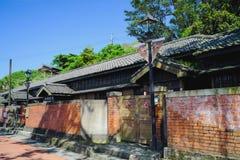 Quatre jointifs de la résidence de style japonais du musée d'or, nouveau gouvernement municipal de Taïpeh dans le secteur de Ruif Photo libre de droits