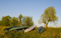 Quatre kayaks images stock