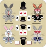 Quatre lapins avec du charme Image libre de droits