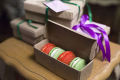 Quatre macarons Photos stock