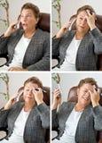 Quatre maux de tête pour le prix d'un ! Photos libres de droits