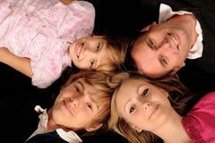 Quatre membres de la famille Image libre de droits