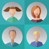 quatre membres de la famille avec des bagues dentaires Photographie stock libre de droits