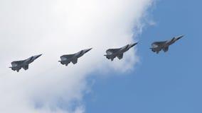 Quatre MiG-31 chez Victory Parade Image libre de droits