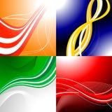 Quatre milieux abstraits colorés Image libre de droits