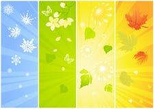 Quatre milieux saisonniers Photos stock