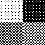 Quatre modèles de point sans couture différents de polka Illustration de vecteur Image libre de droits