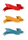 Quatre modèles de ruban de couleur Images stock