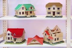 Quatre modèles différents des maisons Photos libres de droits