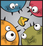 Quatre monstres Image libre de droits