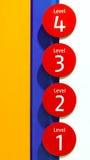 Quatre niveaux Photo libre de droits