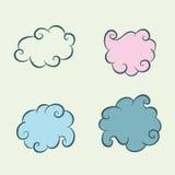 Quatre nuages Images stock