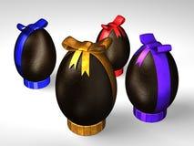 Quatre oeufs de chocolat de Pâques illustration de vecteur