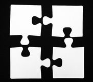 quatre parties de puzzle Photos stock
