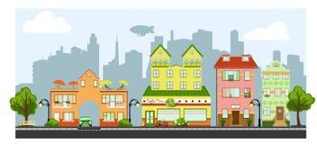 Quatre petites maisons Photographie stock libre de droits