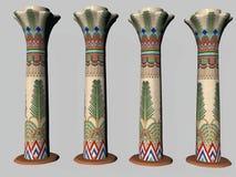 Quatre piliers égyptiens deux Photo libre de droits