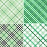 Quatre plaids verts Photographie stock libre de droits