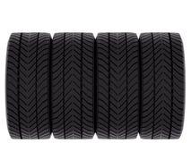 Quatre pneus Photos libres de droits