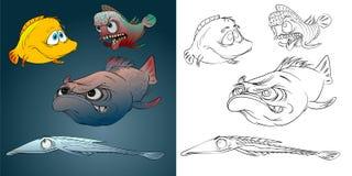 Quatre poissons différents Image libre de droits