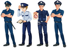 Quatre policiers Image libre de droits