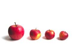 Quatre pommes Image libre de droits