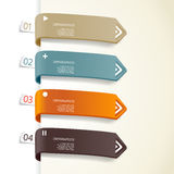 Quatre rayures de papier coloré Image stock