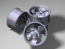 Quatre RIM en aluminium illustration stock