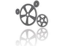 Quatre roues dentées 3D Image stock