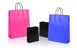 Quatre sacs à provisions. Photos libres de droits