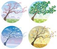 Quatre saisons illustration de vecteur