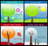 Quatre saisons illustration stock